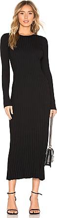 Bardot Low Back Rib Dress in Black