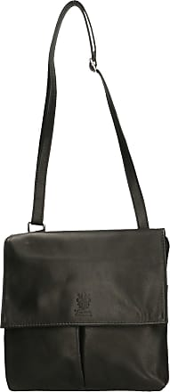 Chicca Borse Aren - Woman Shoulder Bag in Genuine Leather Made in Italy - 24x24x2 Cm
