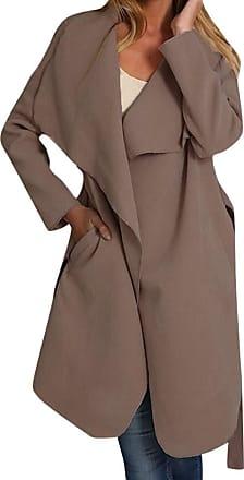 JERFER Women Ladies Long Sleeve Cardigan Coat Suit Top Open Front Jacket Outwear Autumn Winter Coat Jacket Khaki