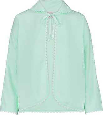 Slenderella Ladies Ribbon Tie Bed Jacket Lace Detail Batwing Sleeve Housecoat UK 16/18 (Mint Green)