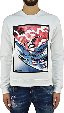 Dsquared2 Dsquared2 Sweatshirt Skiing Men - Size: M - Color: White - New