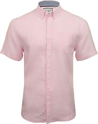 Original Penguin Mens Shirt Core Washed Line - Short Sleeved (Parfait Pink) L