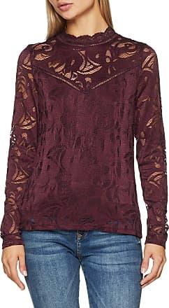 Vila Womens Vistasia L/s Lace Top-noos Vest, Purple (Winetasting Winetasting), 12 (Size: Medium)