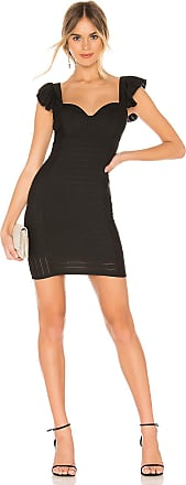 BCBGeneration Ruffle Bodycon Dress in Black