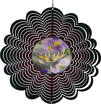 Great World Company StealStreet 609107 12 Holographic Butterfly on Flowers Design Wind Spinners