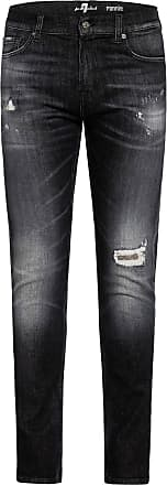7 For All Mankind Destroyed Jeans RONNIE Slim Fit - BLACK