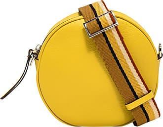 Gianni Chiarini large size tamburello crossbody bag color yellow