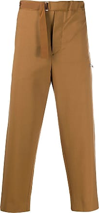 OAMC high-waisted cropped trousers - Brown