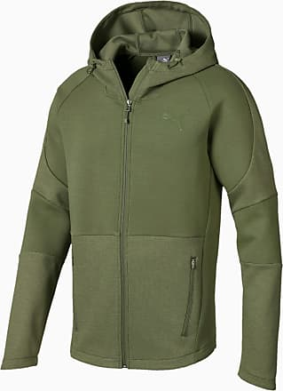Puma Evostripe Move Mens Hooded Jacket, Olivine, size 2X Large, Clothing