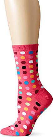 Hot Sox Womens Originals Classics Novelty Crew Socks, Large Dot (Hot Pink), Shoe Size: 4-10