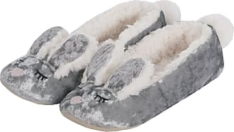 Forever Dreaming Womens Bunny Slippers - Fluffy Velvet Memory Foam Slip On Shoes 2 Pack Silver-Amethyst 3-4