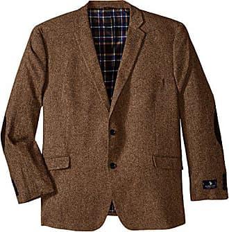 U.S.Polo Association Mens Big-Tall Wool Donegal Sport Coat, Brown, 52 Long