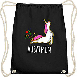 Generic Lustiges Yoga Einhorn Unicorn Pferd Pony Ausatmen Sport Design    Baumwoll Gymsac