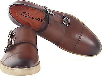 Santoni Low-Top Sneakers calfskin smooth leather brown