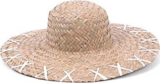 ále by Alessandra Womens Rebel 5-inch Brim Boater Sunhat Packable & Adjustable, Natural/White, One Size