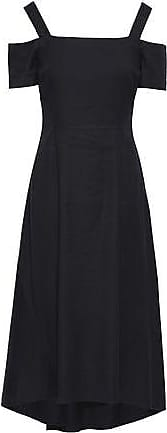 A.L.C. A.l.c. Woman Daniel Cold-shoulder Flared Canvas Midi Dress Black Size 8