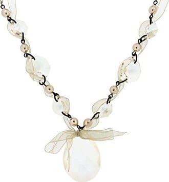 60e08e15fdd4 Jean Pierre Jewellers Collar para Mujer Collar con Elementos de Perlas Gota  de Cinta de Organza