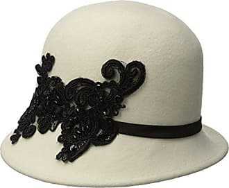 298f5421400a0 San Diego Hat Company Womens Wool Felt Cloche Hat with Sequin Lace Aplique  Trim