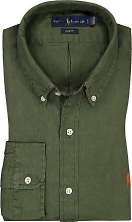 Polo Ralph Lauren Leinenhemd, Slim Fit von Polo Ralph Lauren in Oliv für Herren