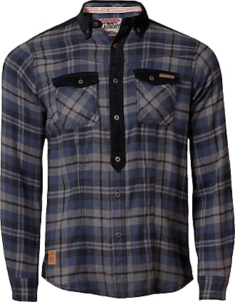 Mens Check Cotton Shirt by Tokyo Laundry /'Sicily/' Long Sleeved