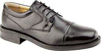 Roamers Capped Gibson - Black - Black - size UK Mens Size 9