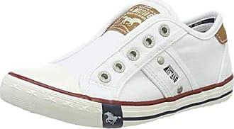 ea70283d846b2 Mustang 5803-405-1, Baskets Enfiler Mixte Enfant, Blanc (Weiß 1