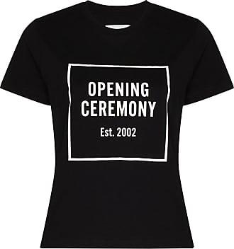 Opening Ceremony box logo cotton T-shirt - Preto
