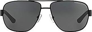 A|X Armani Exchange Armani Exchange Mens Metal Man Sunglass 0AX2012S Aviator Sunglasses, Satin black/black, 62 mm