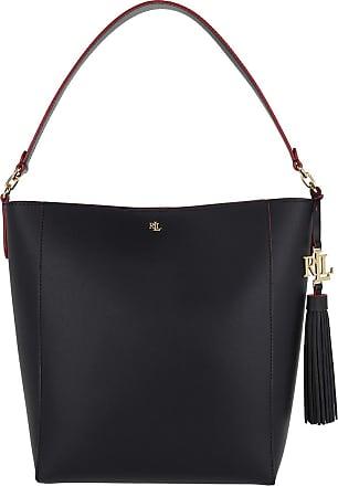 Lauren Ralph Lauren Hobo Bags - Adley 25 Shoulder Bag Medium Navy Red - marine - Hobo Bags for ladies