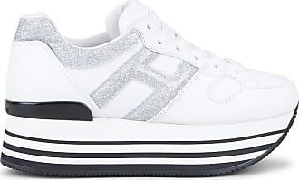 Hogan Maxi H222, SILBER,WEISS, 37.5 - Schuhe