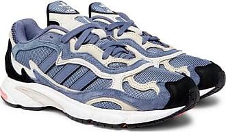 online retailer 08923 e8878 adidas Originals Temper Run Suede And Mesh Sneakers - Blue