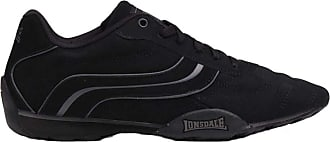 Lonsdale Mens Motif Lace Up Camden Trainers Footwear (13 (48.5), Black/Black)
