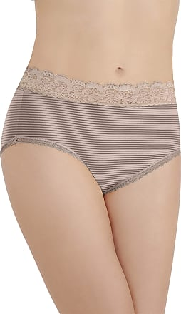 Vanity Fair Womens Flattering Lace Brief Panty 13281, Toasted Coconut, Large