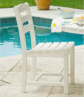 POLYWOOD Outdoor POLYWOOD La Casa Cafe Recycled Plastic Dining Side Chair Slate Gray, Patio Furniture - TD100GY