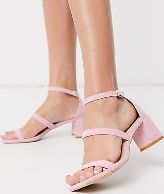Glamorous Sandali con tacco largo rosa pallido