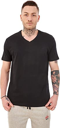 JD Williams Mens Plain V Neck 100% Cotton T-Shirts Slim fit Casual Formal Shirt Top M to XXL Black