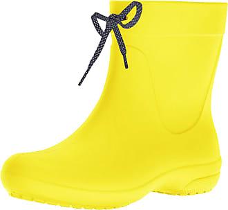 Crocs Womens Freesail Shorty Rain Boots, Yellow (Lemon), 5 UK