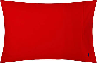 Ralph Lauren Home Polo Player Pillowcases - Red Rose - Set of 2 - 50x75cm