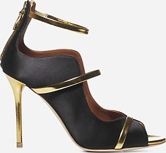 Malone Souliers Mika 100 satin and patent leather sandals - MALONE SOULIERS - woman