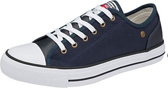 Dunlop Mens Canvas Trainers Lace Up Pumps Casual Plimsolls Fashion Skater Shoes Sneakers (Austin Navy, 10)