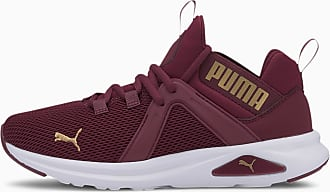 Puma Enzo 2 Womens Running Shoes, Burgundy/Gold, size 3.5, Shoes