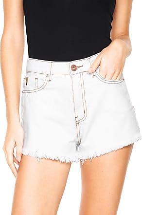 e132cdd22 Coca Cola Ware Short Sarja Coca-Cola Jeans Hot Pant Branco