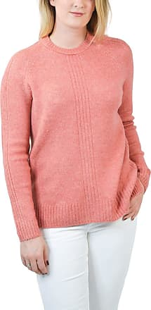 White Label New M&S Marks and Spencer Womens Coral Pink Cozy Relaxed Fit Ribbed Jumper Size XS