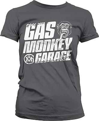 Gas Monkey Garage Officially Licensed Tire Tracks T-Shirt (Dark Grey), XXL
