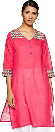 Indigo Womens Cotton Straight Kurti (SS-19/GFT-029 A_ Red_ Medium)