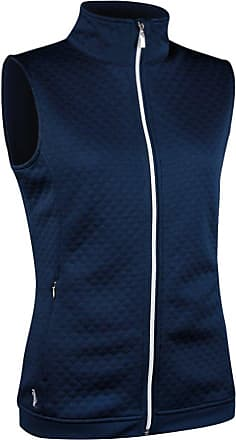 Glenmuir Ladies LF2588ZT Embossed Diamond Zip Front Performance Mid Layer Gilet Navy M