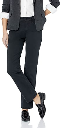 NYDJ Womens Marilyn Straight Pants, Black 2299, 14