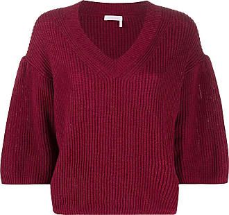 See By Chloé flared knitted jumper - Roxo