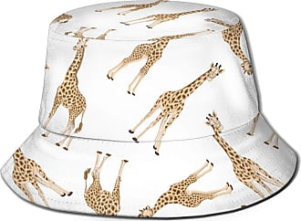 Not Applicable Clothing Washed Bucket Hat Adult Giraffe and Baby Giraffe Mens Womens Trends Fashion Bucket Hat