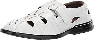 Stacy Adams Mens Argosy Closed-Toe Fisherman Velcro Sandal, White, 13 M US